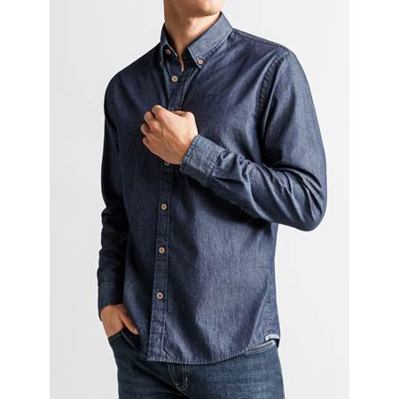 Buffalo Indigo Skjorte - Regular Fit