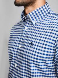 Cheverny Oxford Skjorte 7228417_JEAN PAUL_CHEVERNY OXFORD LS SHIRT_DETAIL_M_EGU_Cheverny Oxford Skjorte EGU.jpg_Left||Left