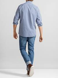 Rutet Twillskjorte  7232163_JP52_FINE TWILL CHECK BD SHIRT_BACK_EGG_L_Rutet Twillskjorte  EGG.jpg_Back||Back