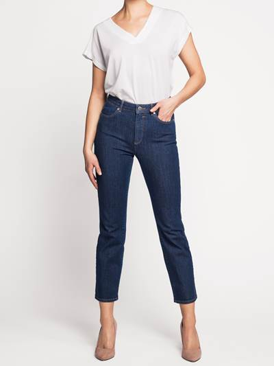 Ine Highwaist Straight Jeans - Cropped D04