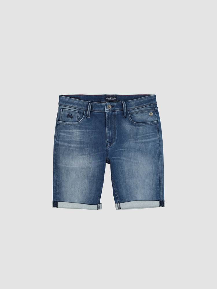 Andre Knit Denim Shorts 7246835_DAB-JEANPAUL-H21-front_35188_Andre Knit Denim Shorts_Andre Knit Denim Shorts DAB.jpg_Front  Front