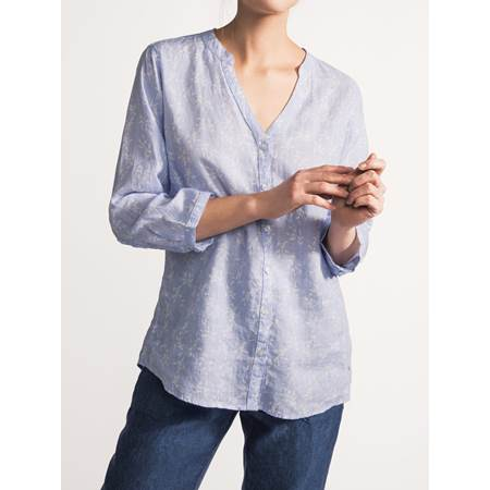 Lucia Blomstret Linbluse