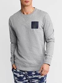 Nautical Collegegenser 7236966_JEAN PAUL_S19_NAUTICAL CREWNECK_L_FRONT_ID6_GRÅ_Nautical Collegegenser ID6.jpg_