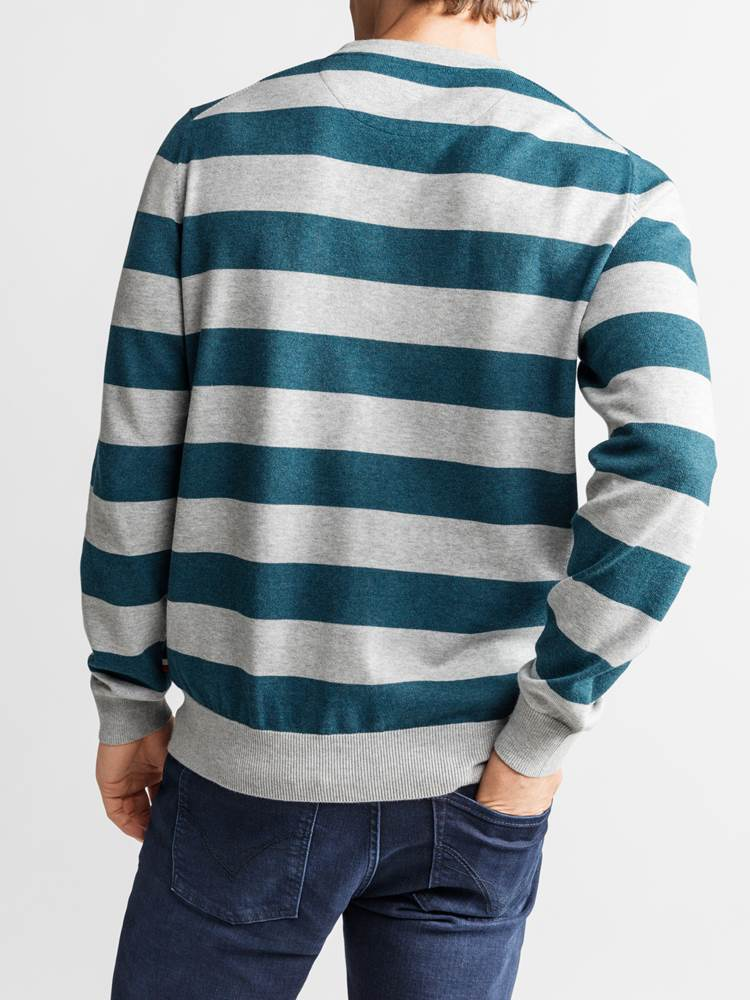 Gard Stripet Genser 7234223_JEAN PAUL_GARD TWO COLOURED STRIPE KNIT_BACK_L_ENK_Gard Stripet Genser ENK.jpg_