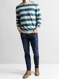 Gard Stripet Genser 7234223_JEAN PAUL_GARD TWO COLOURED STRIPE KNIT_FRONT_L_ENK_Gard Stripet Genser ENK.jpg_
