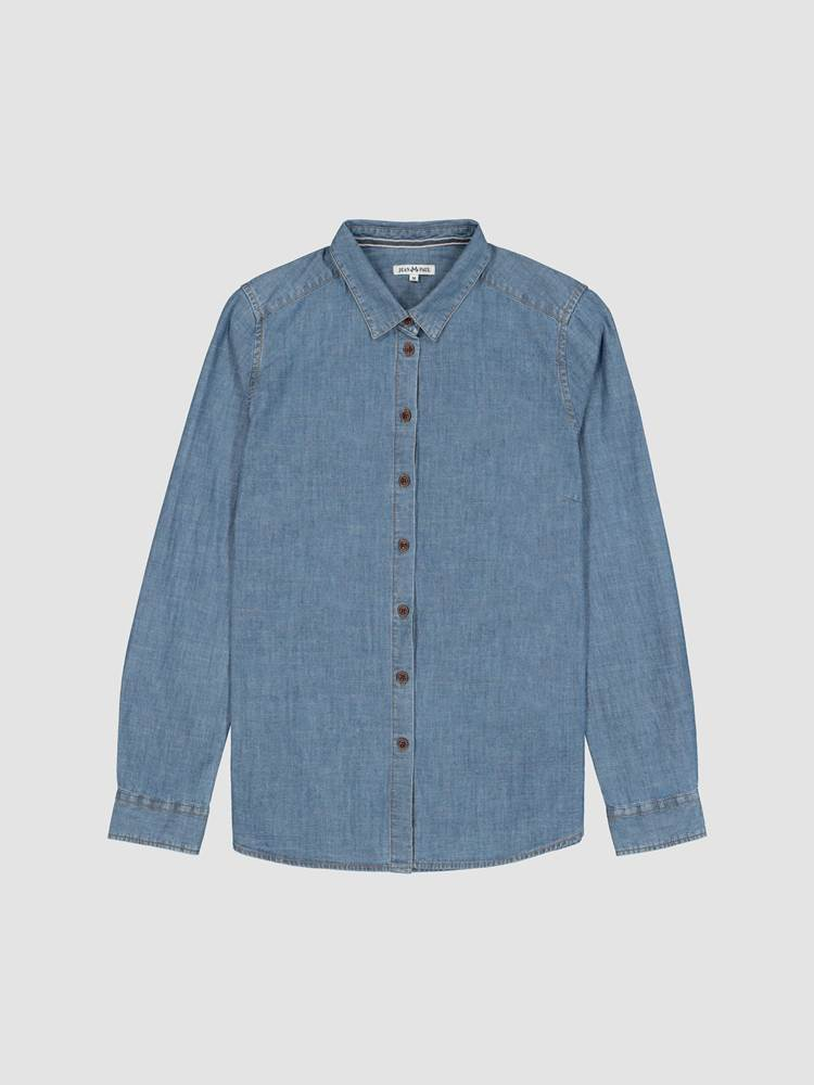 Rosi Chambray Skjorte 7238912_EN3-JEANPAULFEMME-A19-front_2472_Rosi Chambray Skjorte EN3_Rosi Chambray Shirt.jpg_Front  Front