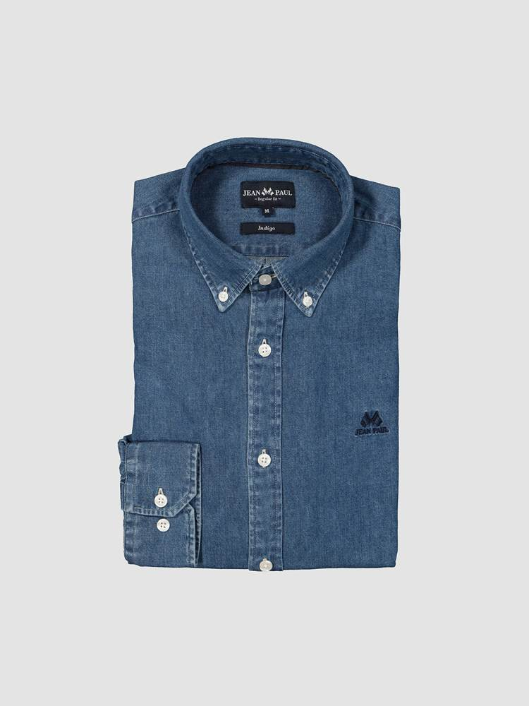 Denim Skjorte - Regular Fit 7238750_D05-JEANPAUL-A19-front_Denim Skjorte - Regular Fit D05_Denim Shirt.jpg_Front||Front