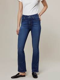 Ine Highwaist Flared Jeans 7244345_D04-JEANPAULFEMME-A20-Modell-front_83113_Ine Highwaist Flared Jeans D04.jpg_Front||Front