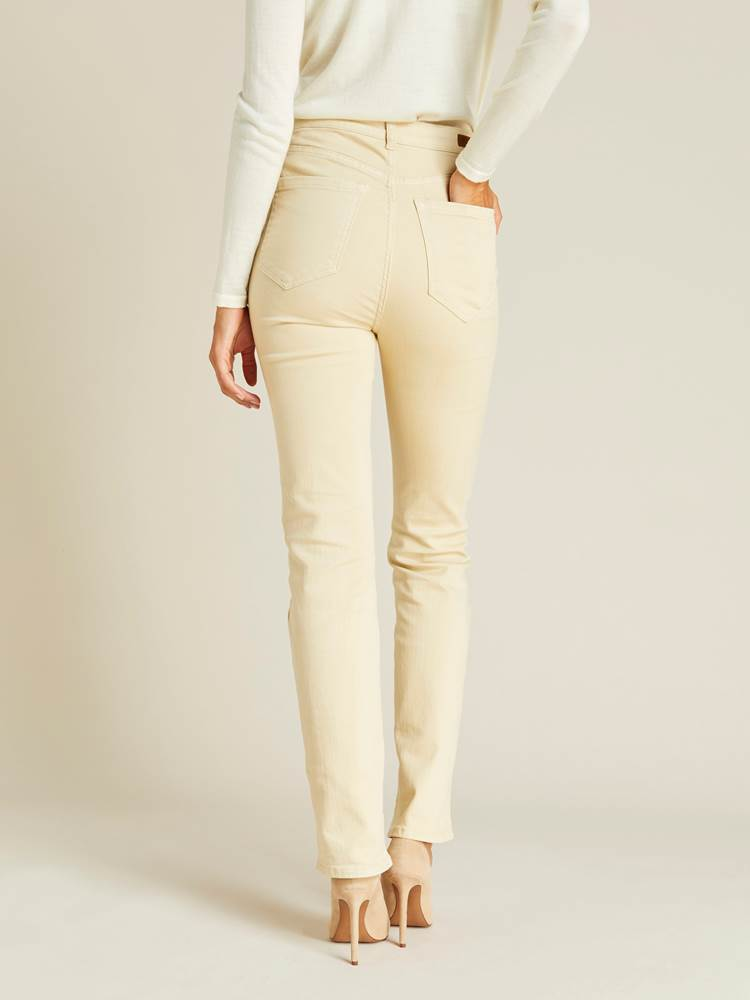 Ine Highwaist Straight Pant 7239752_JEAN PAUL_A19_INE HIGHWAIST STRAIGHT PANT_BACK_O0U_BRUN_Ine Highwaist Straight Pant O0U.jpg_