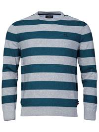 Gard Stripet Genser 7234223_ENK-JEANPAUL-A18-front_Gard Stripet Genser ENK_Gard Two Coloured Stripe Knit.jpg_