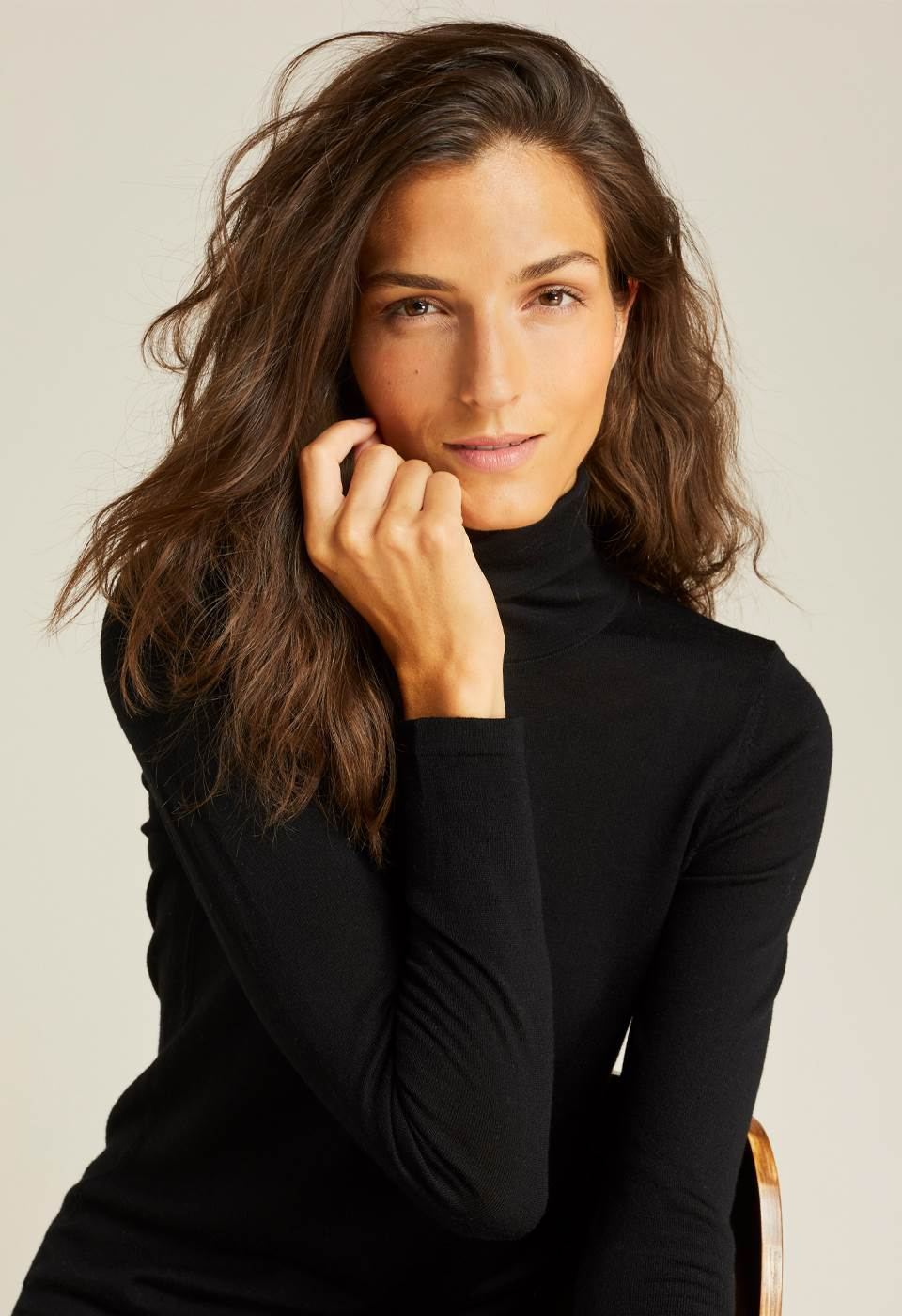 Pierette Merino Roll Neck