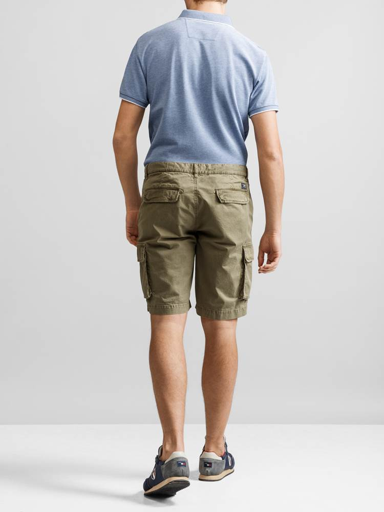 Mike Cargo twill shorts 7232238_JP52_MIKE CARGO TWILL BERMUDA_BACK_GMM_L_Mike Cargo twill shorts GMM.jpg_Back  Back