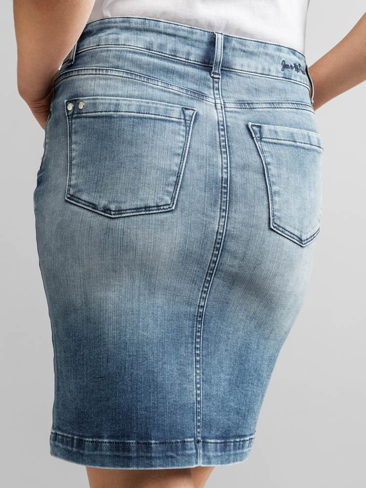Sabine Denim Skjørt 7233092_JEAN PAUL_SABINE DENIM SKIRT_DETAIL_S_D03_Sabine Denim Skjørt D03.jpg_Left||Left