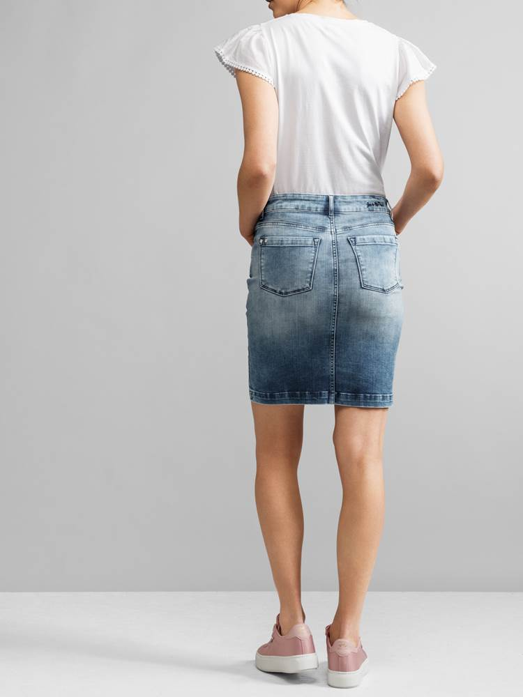 Sabine Denim Skjørt 7233092_JEAN PAUL_SABINE DENIM SKIRT_BACK_S_D03_Sabine Denim Skjørt D03.jpg_Front||Front