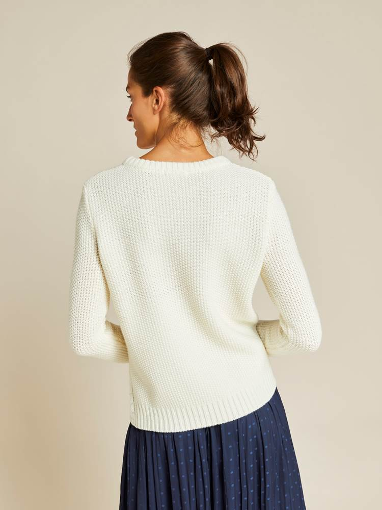 Laura Strikkegenser 7240094_JEAN PAUL_W19_LAURA KNIT_BACK_OAF_HVIT_Laura Strikkegenser OAF.jpg_