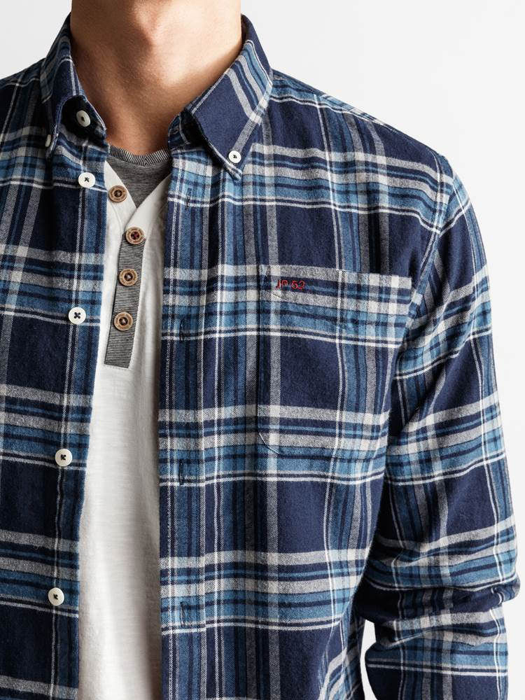 Check Skjorte - Regular Fit 7234095_JP52_PROMO FLANELL CHECK_DETAIL_M_EM6_Promo Flannel Rutet Skjorte EM6_Check Skjorte - Regular Fit EM6.jpg_