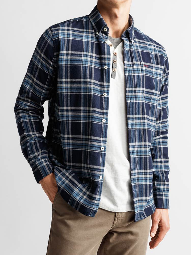 Check Skjorte - Regular Fit 7234095_JP52_PROMO FLANELL CHECK_FRONT_M_EM6_Promo Flannel Rutet Skjorte EM6_Check Skjorte - Regular Fit EM6.jpg_